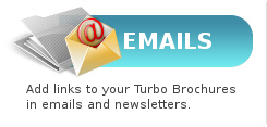 Emails - Add links to your Turbo Brochures in emails and newsletters