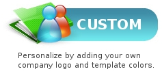 Custom - Personalize by adding your own company logo and template colors